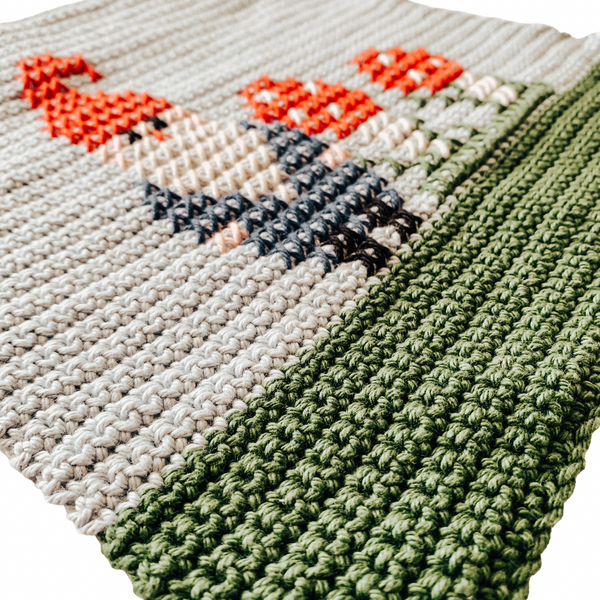 September (Gnome) Dish Towel Crochet Pattern