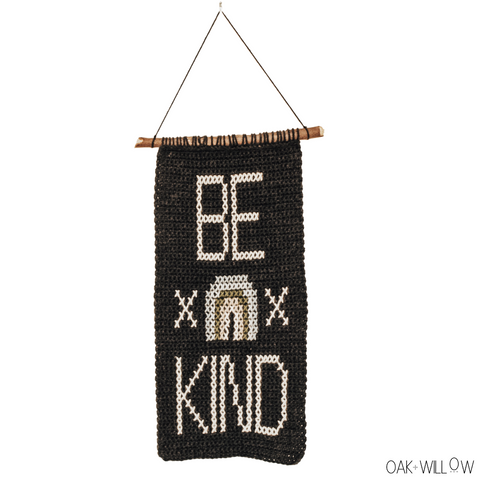 Be Kind Wall Hanging Crochet Pattern