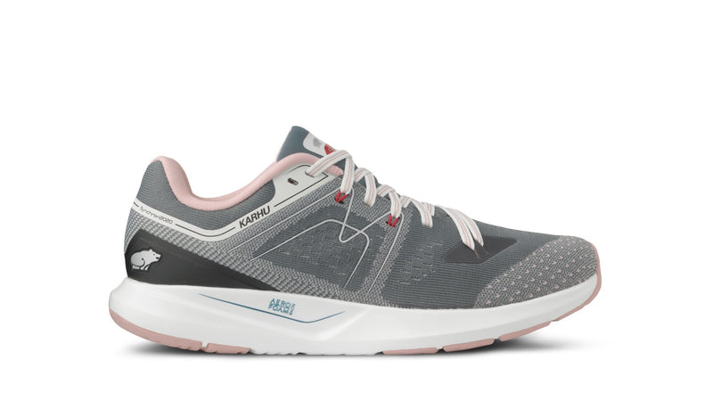 Karhu women's synchron ortix stormy weather misty rose left