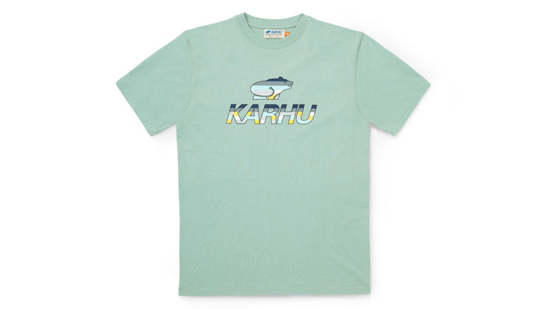 Team college t-shirt-desert sage/ensign blue KA00085-DSEBMC front