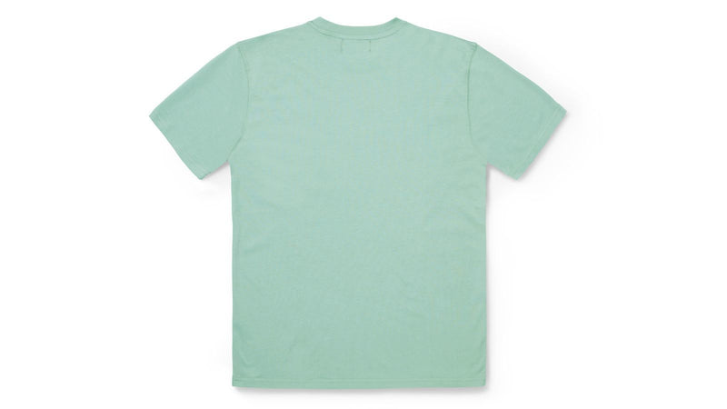 Team college t-shirt-desert sage/ensign blue KA00085-DSEBMC logo