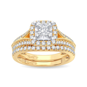 Diamond Ring Princess Cut 0.75 Carats 14KT Rose Gold