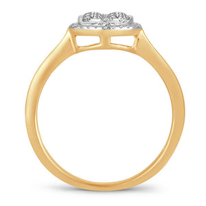 Diamond Promise Ring Round Cut 0.48 Carats 14KT Gold