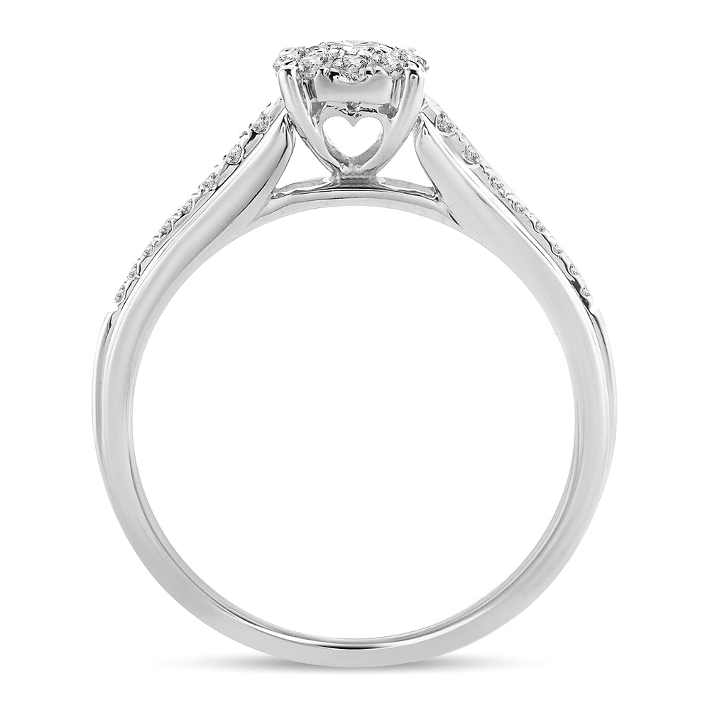 Diamond Engagement Ring Round Cut 0.37 Carat 14KT Gold