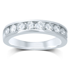 Diamond Band Round Cut 0.52 Carats 14KT Gold