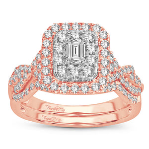 14K 1.00CT Diamond bridal set