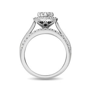 10K White Gold 1 1/2 Ct.Tw. Diamond Engagement Ring