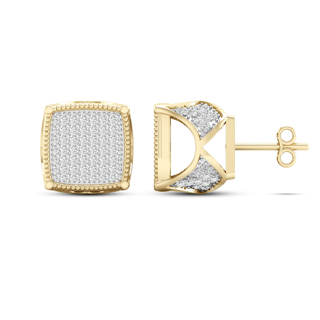 Diamond Stud Earrings 0.50 Carats 10KT Yellow Gold
