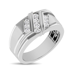 Diamond Men's Fashion Ring Round Cut 0.50 Carats 10KT Gold