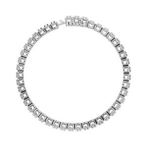 Diamond Tennis Bracelet Round Cut 14KT White Gold