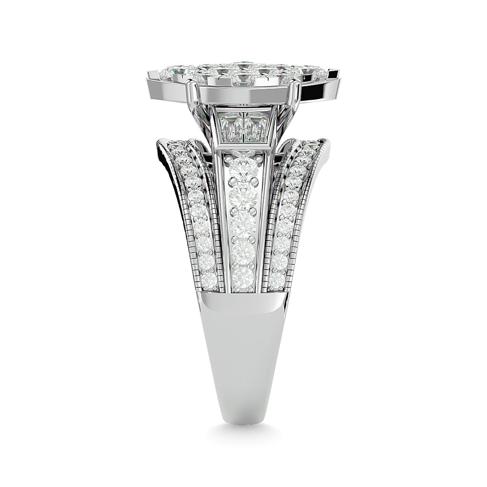 Diamond Engagement Ring Marquise Cut 1.50 Carat 14K White Gold