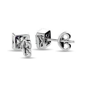 Diamond Stud Earrings Radiant Cut 0.25 Carats 10K White Gold
