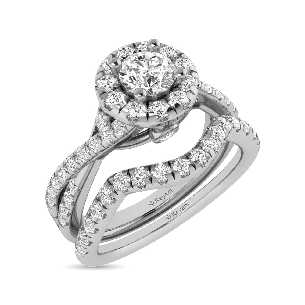 Diamond Engagement Ring 1.00 ctw Round cut 14KT White Gold