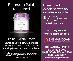 Benjamin Moore Bathroom Paint Offer - $7 Off Limited Time Only at Shenandoah Paint