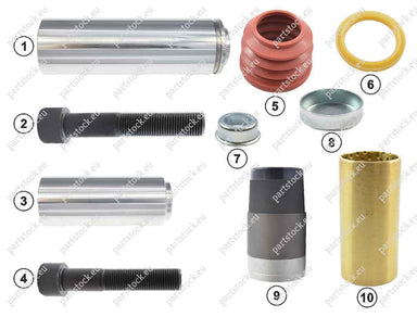 Guide pin and seal kit for Knorr Caliper. K000472, 42541412, 81508226019, 81508226034, 1527631, 3434381200, 0004203485, CKSK.3.2