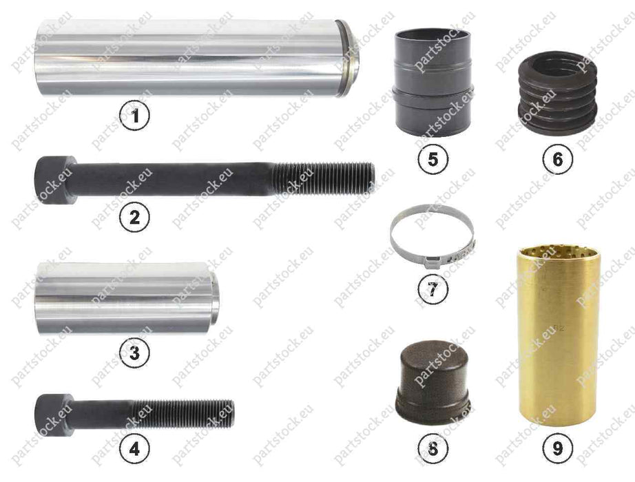 Guide pin and seal kit for Knorr Caliper. II197140062