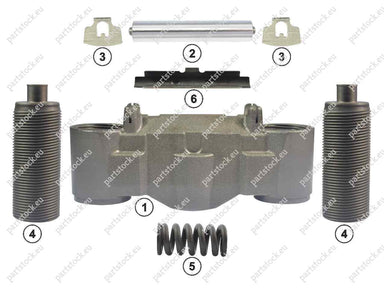 Bridge and calibration bolt kit for Knorr Caliper. CKSK.17.1