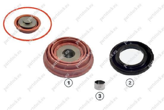 Tappet kit for Knorr Caliper. K001929, 81508226027, 0004204282