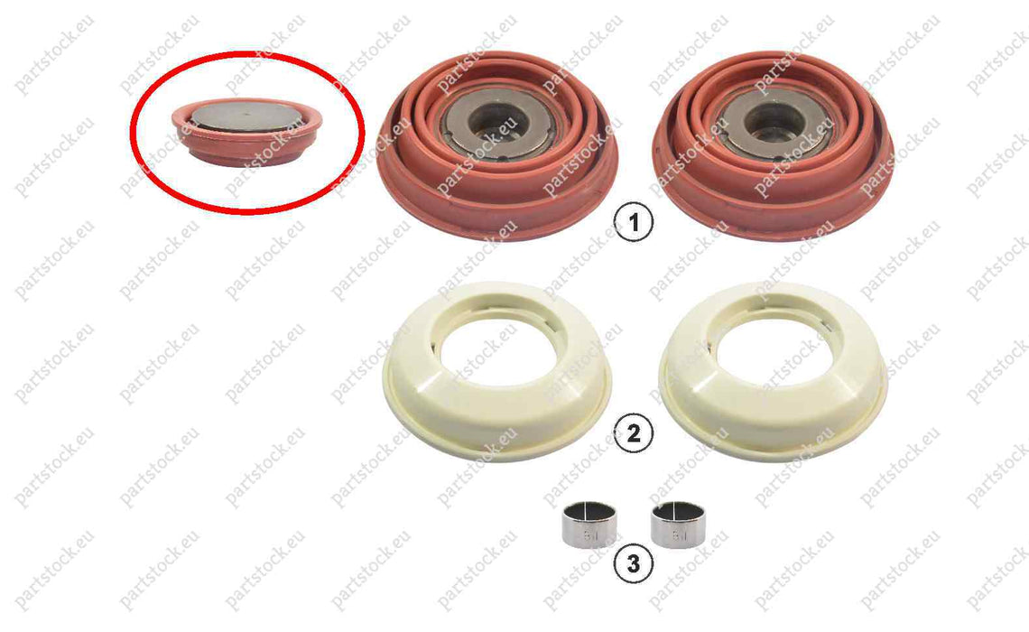 Tappet kit for Knorr Caliper. K046523, A0004230316