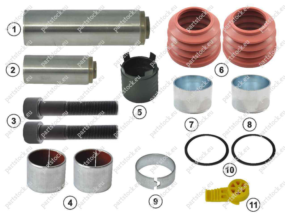 Guide pin and seal kit for Haldex Caliper. 3434386100, 95397, 95054, 550017811