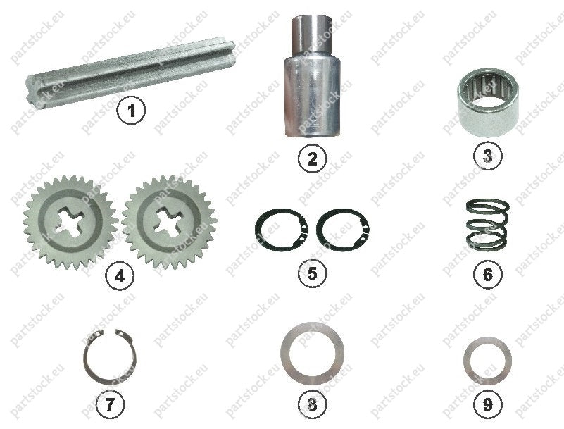 Adjuster mechanism kit for Wabco Caliper. GK83615