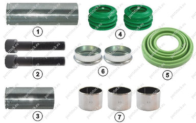 Guide pin and seal kit for Wabco Caliper. 6402229282