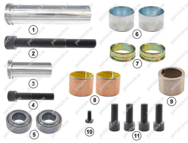 Guide pin and seal kit for Meritor Caliper. MCK1243, MCK1140, 5001860791, 85107912, 81508026025, CMSK.26
