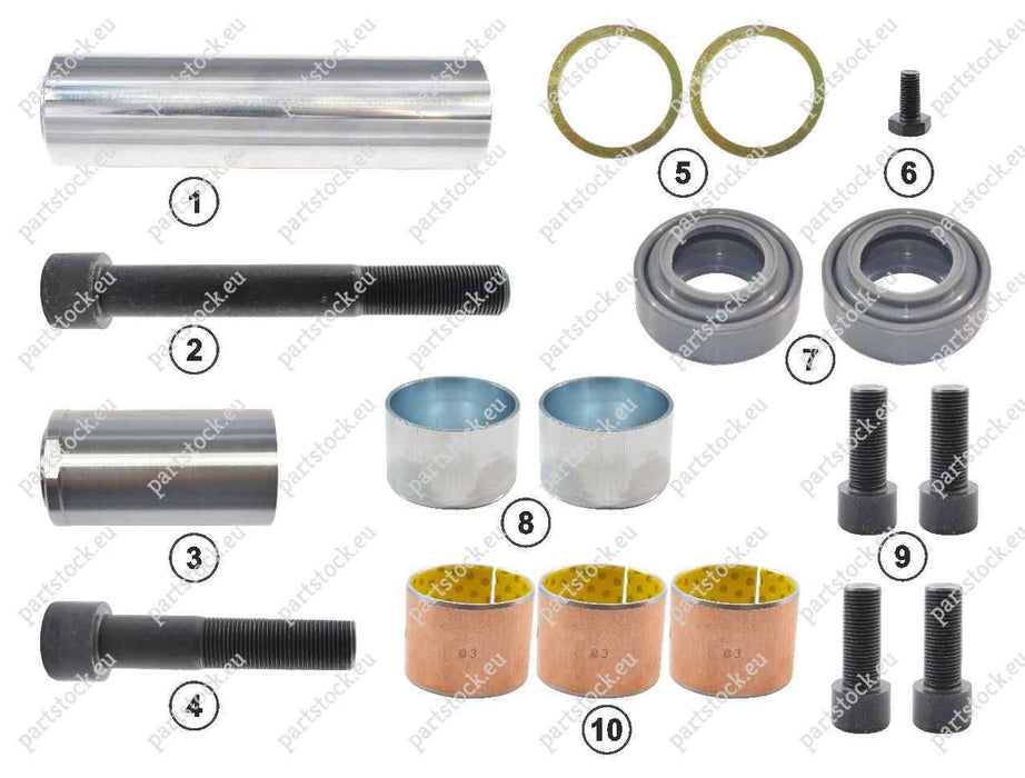 Guide pin and seal kit for Meritor Caliper. MCK1086, 5001858717, CMSK.46
