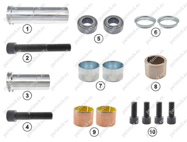 Guide pin and seal kit for Meritor Caliper. MCK1254
