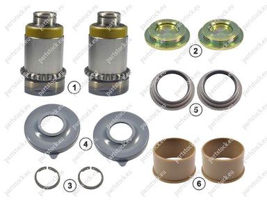 Calibration bolt and tappet kit (right) for Meritor Caliper. MCK1237, 3092263, CMSK.4.2
