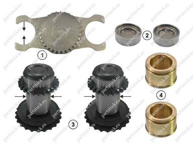 Adjusting gear and tappet 37.5mm RH kit for Meritor Caliper. GK88565