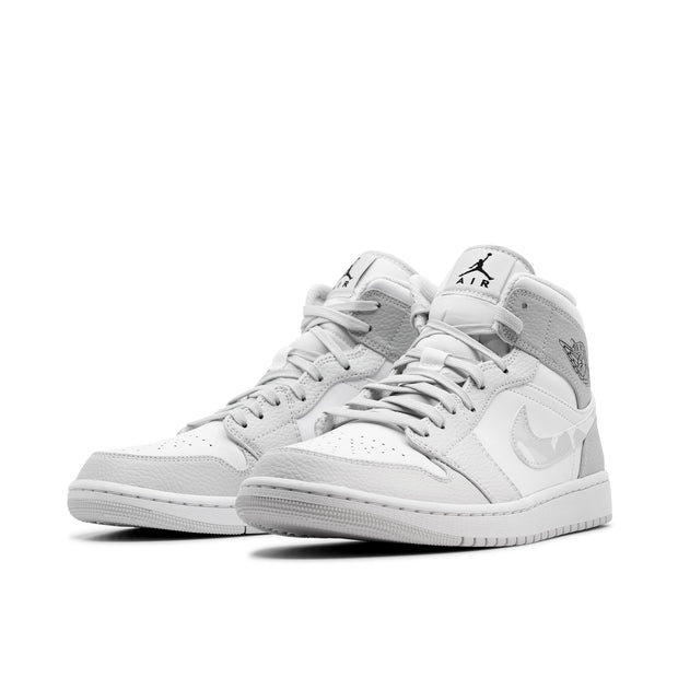 AIR JORDAN 1 MID WHITE CAMO