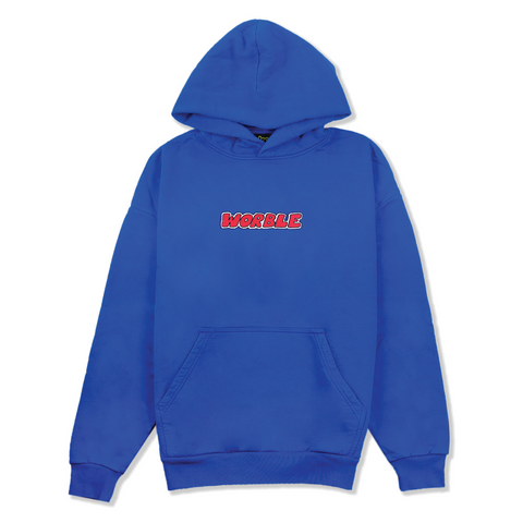 WORBLE FUZZ LOGO ROYAL BLUE HOODIE (EMBROIDERED)