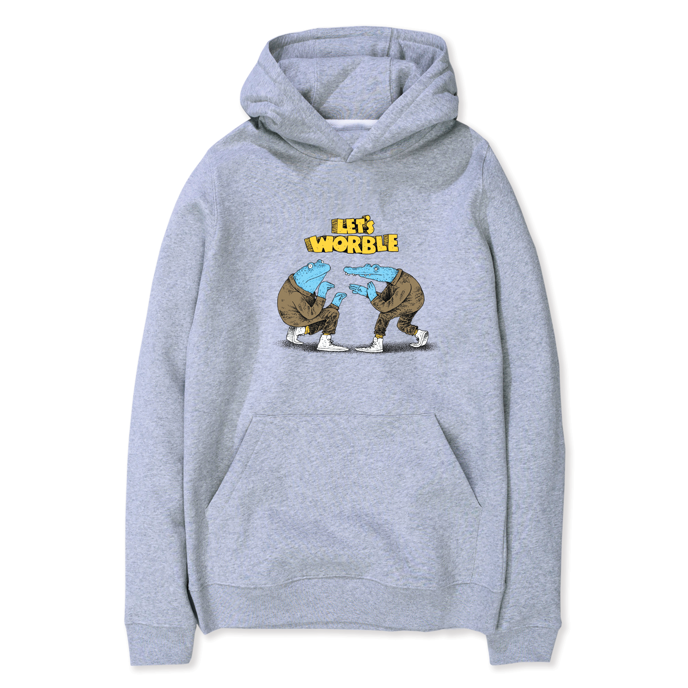 LET'S WORBLE HEATHER GRAY HOODIE