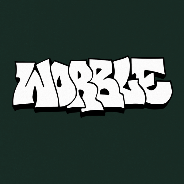 WORBLE STRAIGHT LETTER TEE (GREEN)