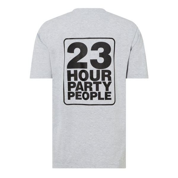 21GF3T06-23 Hour Party People-Grey Marl