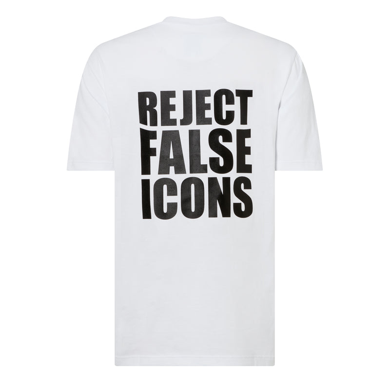 21GF3T01-False Icons Tee-White