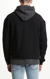 hi fi wool jacket black