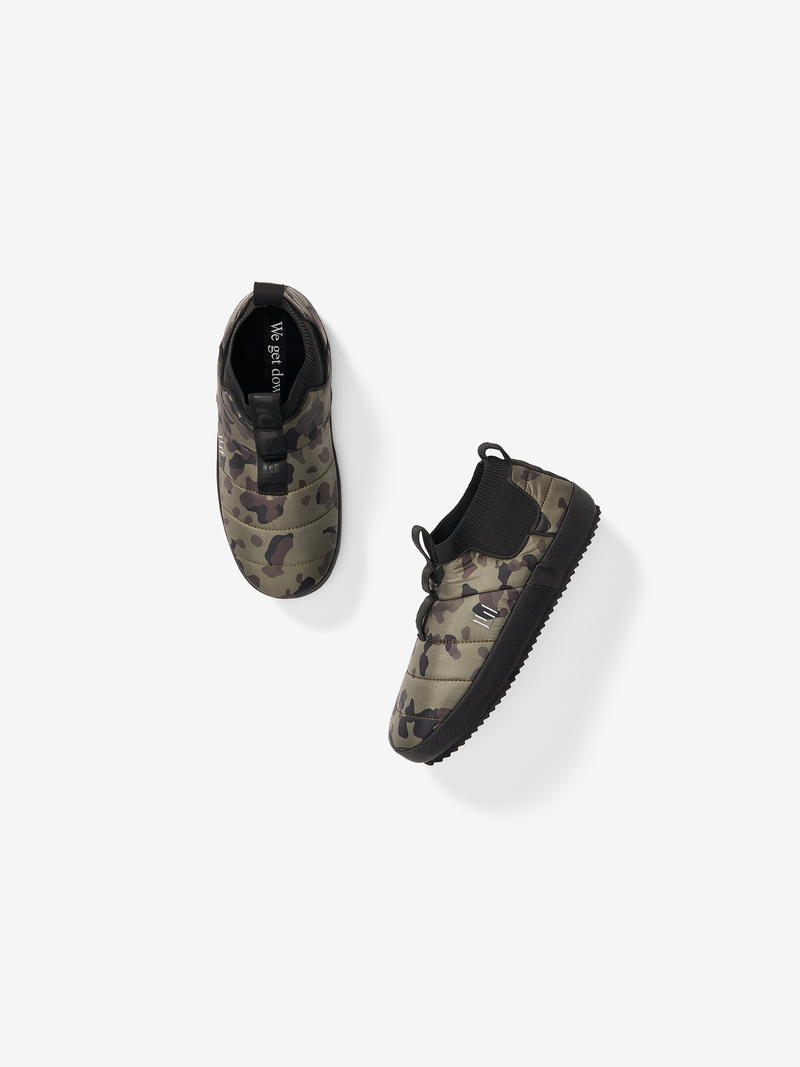 PSS-5-SW-PUFFY SLIP ON-ARMY VINTAGE CAMO