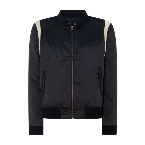 21GF3JT01-Murdoc Quilted Jacket-Black / Gold