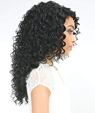Load image into Gallery viewer, JANET BRAZILIAN  HUMAN HAIR - STYLE BRAZILIAN SCENT LACE WIG - COLOR 1B