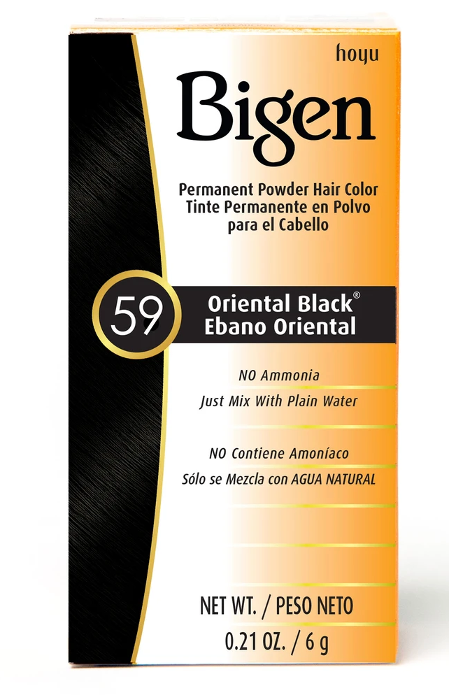 Bigen Oriental Black 59 Permanent Powder Hair Color