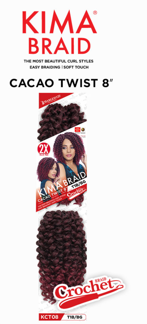 Harlem 125 KIMA BRAID CACAO TWIST 8'' COLOR 1