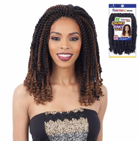 FreeTress 2X Chunky Kinky Twist 10