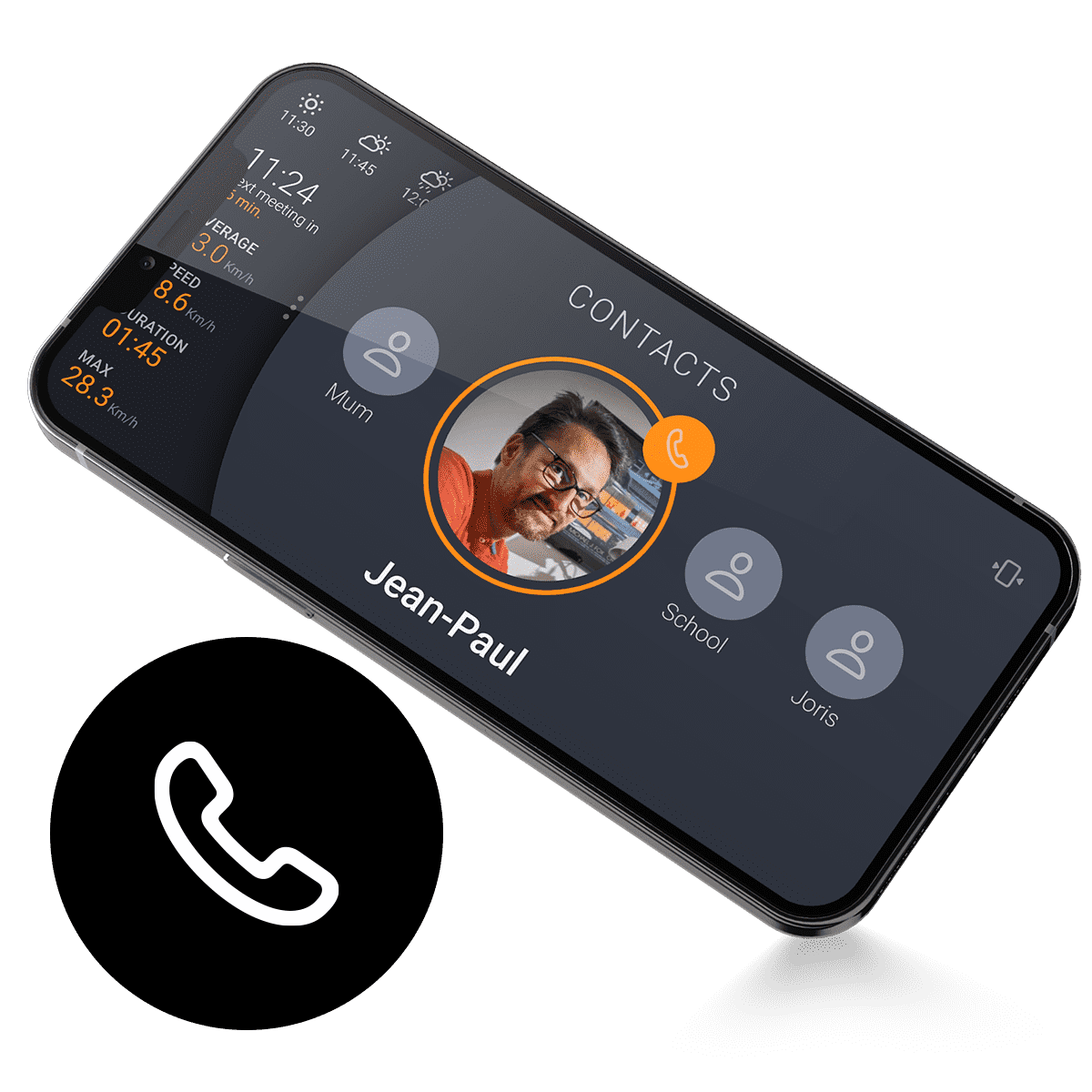 Sweel Mobile App Contacts