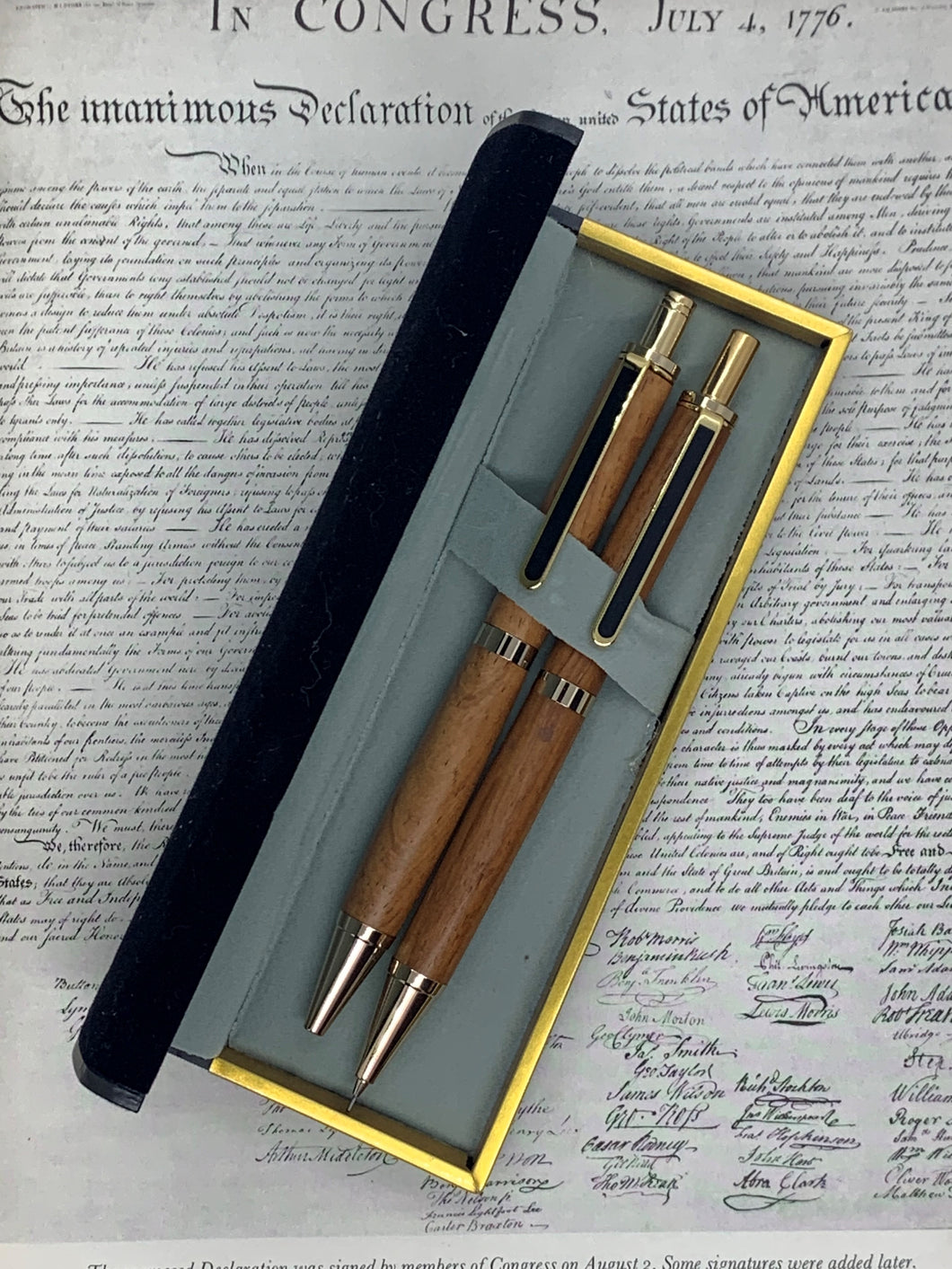Pen and Pencil Set - Rosewood