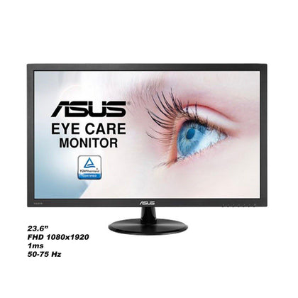ASUS VP247HAE Eye Care Monitor – 23.6-inch, Full HD, Flicker Free, Blue Light Filter, Anti Glare - Saudi Gamerz - متجر سعودي قيمرز