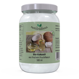 Kokosöl Bio Virgin Coconut Oil 500 ml - natura-sana.ch Shop Active-Vita