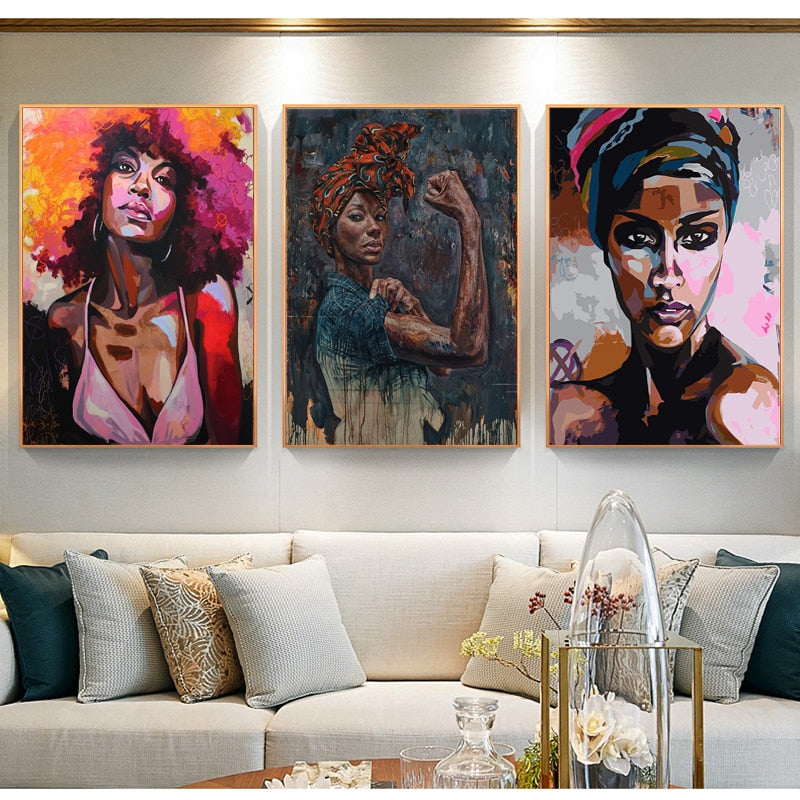 African American Canvas Painting