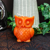 Owl Candle in Orange